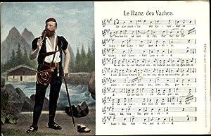 Lied Ansichtskarte / Postkarte Le Ranz des