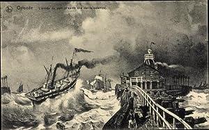Künstler Ansichtskarte / Postkarte Ostende Westflandern, L'entree
