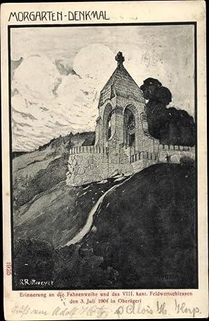 Künstler Ansichtskarte / Postkarte Rittmeyer, R., Morgarten