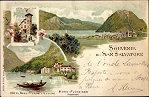Litho San Salvatore Tessin, Hotel Salvatore, Hotel Beau Rivage