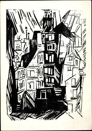 Postkarte Bauhaus Vollersroda Lyonel Feininger