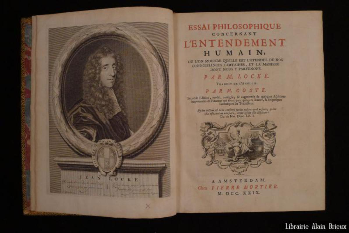 Essai Philosophique Concernant Lentendement Humain LOCKE