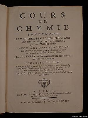 Cours de Chymie: LEMERY (M.)