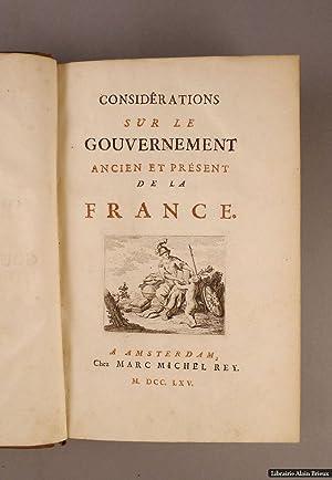 Considérations sur le gouvernement ancien et présent: ARGENSON (René-Louis de