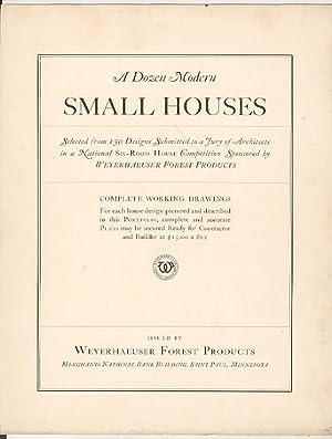 A Dozen Modern SMALL HOUSES: Anon.