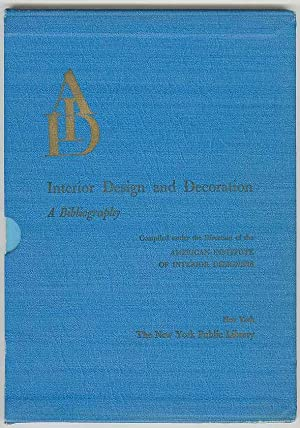 Interior Design and Decoration: A Bibliography: Lackschewitz, Gertrud