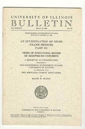 An Investigation of Rigid Frame Bridges, Part: Kluge, Ralph W.
