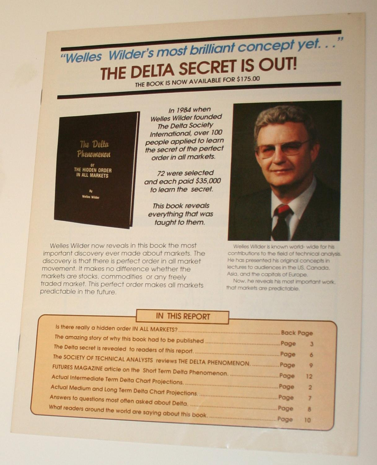 The Delta Phenomenon: or The Hidden Order in All Markets (Book Package)