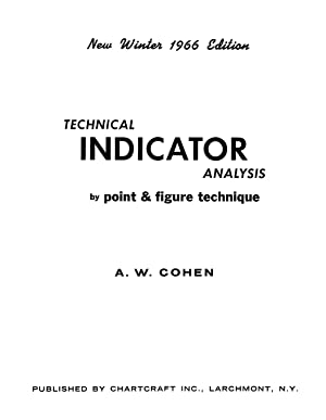 Technical Indicator Analysis by Point & Figure Technique (1966) REPRINT: Cohen, A.W.
