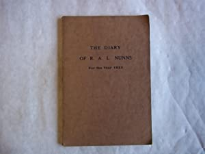 The Diary For R.A.L. Nunns for the: Nunns. R.A.L.