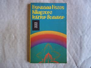 Klingsors Letzter Sommer.: Hesse. Hermann