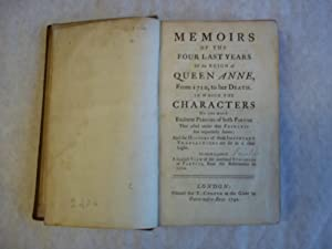 Memoirs of the Four Last Years of: Gibson. Attributed to