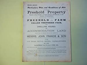 Plans Conditions of Sale Freehold Property Parishes: Anon