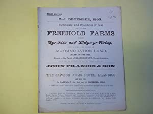 Particulars and Conditions of Sale.freehold Farms Called: Anon