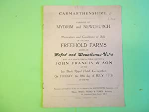 Carmarthenshire. Parishes of Mydrim and Newchurch. Conditions: Anon