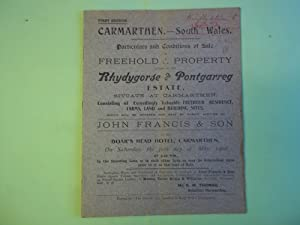 Carmarthen-South Wales Particulars and Conditions of Sale: Anon
