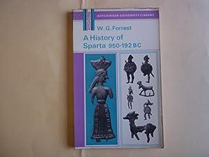 History of Sparta, 950 B.C.-192 B.C. (University: Forrest, W.G.