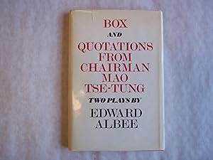 Box; and, Quotations from Chairman Mao Tse-Tung: Albee, Edward