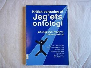 Kritisk Belysning Af Jeg`Ets Ontologi.: Favrholdt. David
