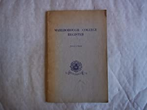 Marlborough College Register 1933-1944. Appendix to Eighth: Anon