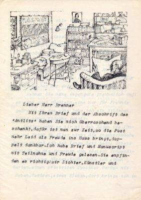 Brief mit eh.: Hesse, Hermann,