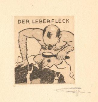 Der Leberfleck. Sandstein [später Sanden], Walter,