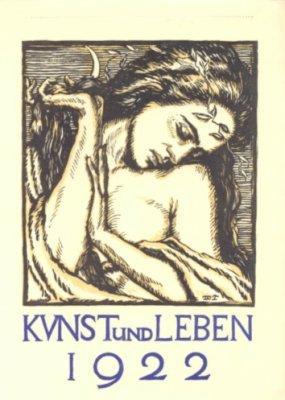 Probeandruck Deckblatt Kalenders Kunst Leben Zvab