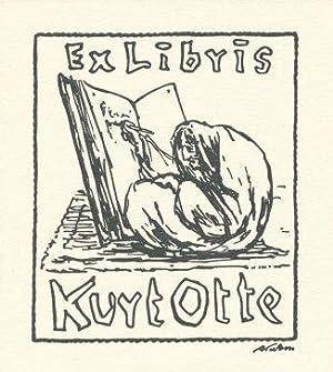 ExLibris Kurt Otte.: Kubin, Alfred,