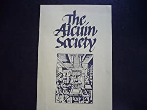 The Alcuin Society - Publicity Brochure and: The Alcuin Society
