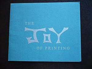 The Joy of Printing.: Twain, Mark