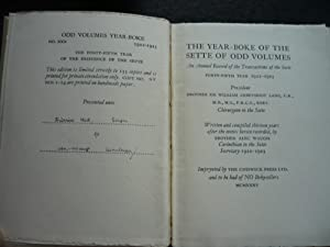 The Sette of Odd Volumes: Year-Boke XXX; An Annual Record of the Transactions of the Sette. ...