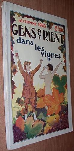 Gens Qui Rient dans les Vignes. Automne 1925.