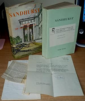 Sandhurst. Proof Copy. Wth ALS from the Author and other items.: SMYTH Brigadier Sir John V.C.