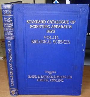 Biological Sciences Apparatus Catalogue.: BAIRD & TATLOCK.