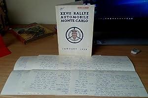 Monte-Carlo Rally No. 27. 1958. Regulations booklet.: MONTE-CARLO RALLY.