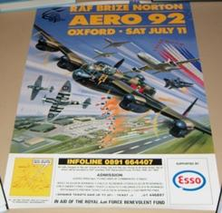 Poster for RAF Brize Norton Aero 1992.: AIR SHOW.