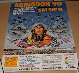 Poster for Abingdon 90.: AIR SHOW.