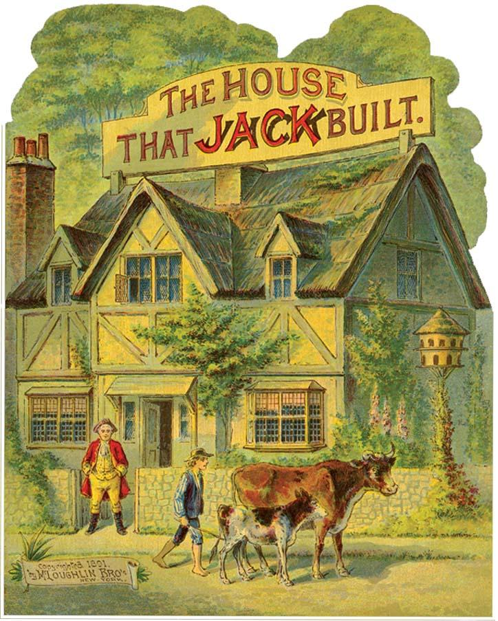 Not a complete version of the classical story It begins with This is the house that Jack built And the very next page is several verses into the story with