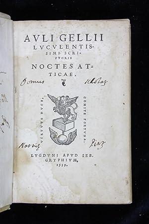 Luculentissimi scriptoris. Noctes atticae: Auli Gellii (Aulio
