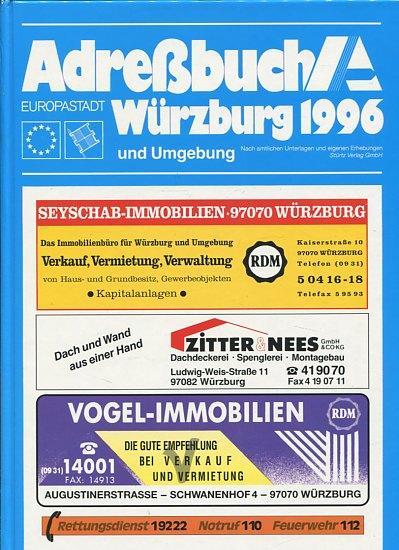 Amtliches Adreßbuch Stadt Würzburg und Umgebung 1996.