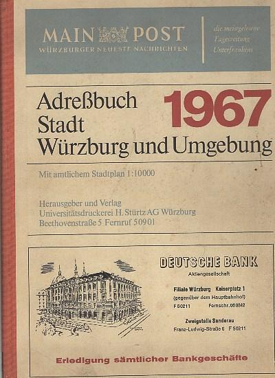 Adreßbuch Stadt Würzburg und Umgebung 1967. 65.