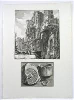 Dell' Castello dell' Acova Givlia G.B. Piranesi John Wilton-Ely 536 and 537No watermark is presentThere is a second smaller engraving with the following measurementsImage Size: 140mm x 189mmPlatemar