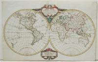 Mappe-Monde par Robert de Vaugondy Geographe, corrigee par Lamarche son successeur: Vaugondy, ...