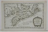 Carte de l'Acadie, Isle Royale, et Pais Voisins. Pour servir a l'Histoire Generale des ...