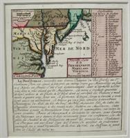 Nouvelle Carte de la Pensylvanie Maryland Virginie: Chatelain, Henri