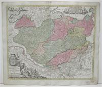 Tabvla Generalis Holsatiae complectens Holsatiae Dithmarsiae Stormariae et Vagriae Dvcatvs: Homman ...