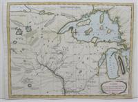 Carte des voyages du Cap.Carver, dans la partie interieure de L'Amerique Septentrionale, en ...