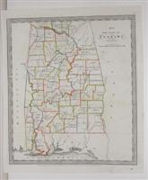 Map of the State of Alabama.: Burr, David H.