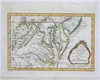 Carte de la Baye de Chesapeack et pays Voisins: Bellin