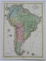 Carte de L'Amerique Meridionale: Buchon, Jean Alexandre C.